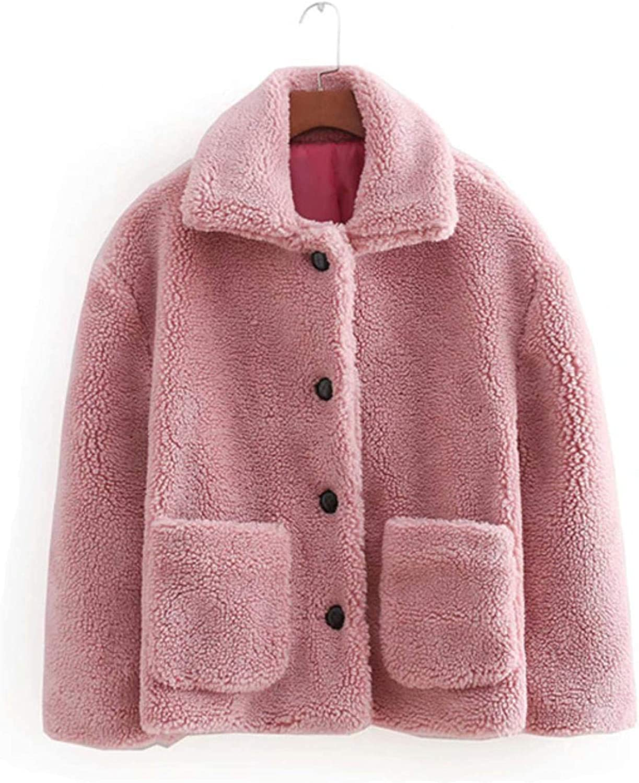 Dapigu Solid Teddy Coats Womens High Street Thick Warm Lamb Fur Coats and Jackets