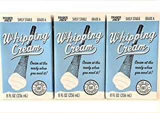 Trader Joe's Shelf Stable Whipping Cream Cream at the Ready When You Need It 8 Fl oz (Case of 3)