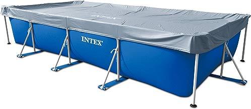 Intex – Cubierta rectangular de protección para piscinas tubulares (ref: 58968), 4,50 m