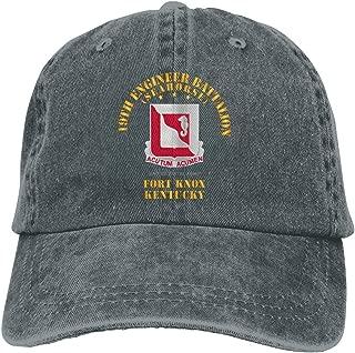 19th Engineer Battalion - Ft Knox KY Vintage Adjustable Baseball Cap Denim Dad Hat