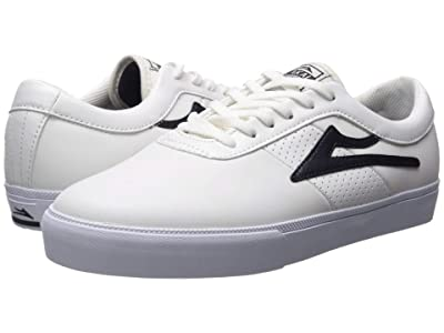 Lakai Sheffield (White/Navy Leather) Men