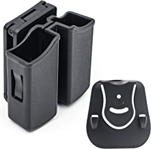 RioRand Magazine Pouch Double Magazine Holster Universal 9mm .40 Caliber Stack Mag Holder with 1.5-2 Inches Belt Clip and ...