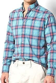 Sonoma Mens Modern Fit Flexwear Poplin Casual Shirt Turquoise Plaid