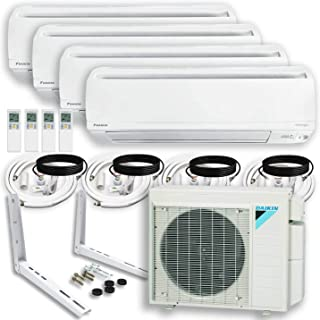 DAIKIN (4 Zone 4MXS Air Conditioner Heat Pump + Maxwell 15 ft. Installation Kit + Wall Bracket (9000 + 9000 + 9000 + 9000 BTU)