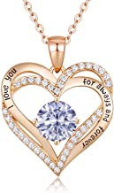 CDE Forever Love Heart Women Necklace 925 Sterling Silver...