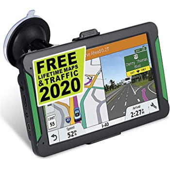 Car GPS Navigation, 7-inch Touch Screen Vehicle GPS, Free Lifetime maps of The United States, Canada and Mexico, Lane Assist, GPS Navigation System Voice Broadcast Navigation
