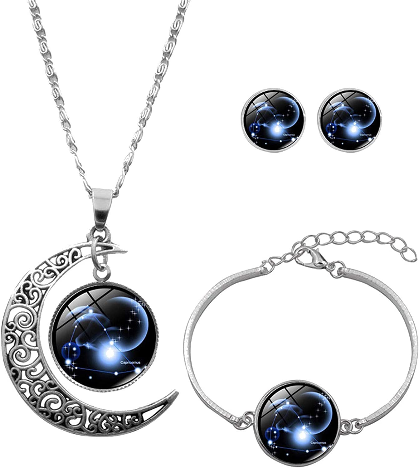 3 Pcs Jewelry Fixed price for sale Set Fashion Astro Overseas parallel import regular item 12 Zodiac Constellation Necklace