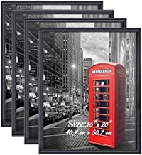 PETAFLOP Poster Frame 16x20 Black Frame Wall Picture Frames 16 x 20 Living Room Wall Decor, Set of 4