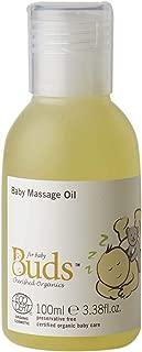 Buds Organics Buds Cherished Organics Baby Massage Oil, 3.38 fl.oz