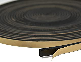 Neoprene Foam Weather Seal High Density Stripping with Adhesive Backing 1/2 Inch Wide 1/4 Inch Thick 50 Feet Long (1/2 x 1/4)