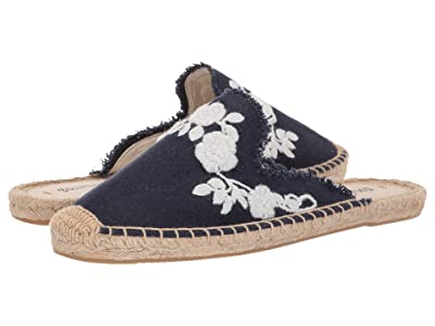 Soludos Frayed Floral Mule (Midnight Blue) Women