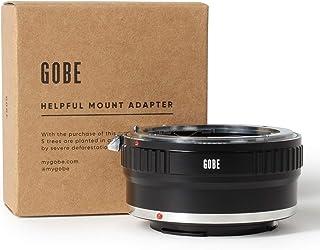 Gobe - Adaptador de Lente Compatible para Lentes Nikon F y cuerpos de cámara Canon EOS M (EF-M) (con Montaje de trípode)