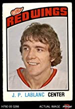1976 O-Pee-Chee NHL # 326 J.P. LeBlanc Detroit Red Wings (Hockey Card) Dean's Cards 3 - VG Red Wings