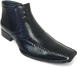 08d365e5c G4U- Alberto Fellini GP02S Men s Dress Boots Alligator Cowboy Western Ankle  Slip-on Side