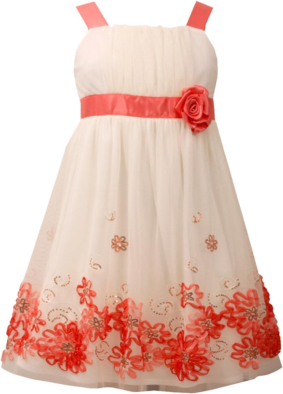 Bonnie Jean Girls' Empire Mesh Bonaz Dress