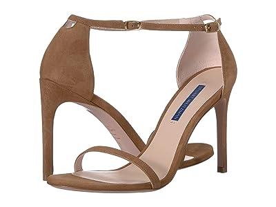 Stuart Weitzman Nudistsong Ankle Strap Sandal (Basket Brown Suede) Women