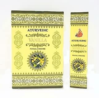 Ayurvedic Vanilla Masala Incense Sticks Agarbatti (12 Packs X 15 Sticks Each)