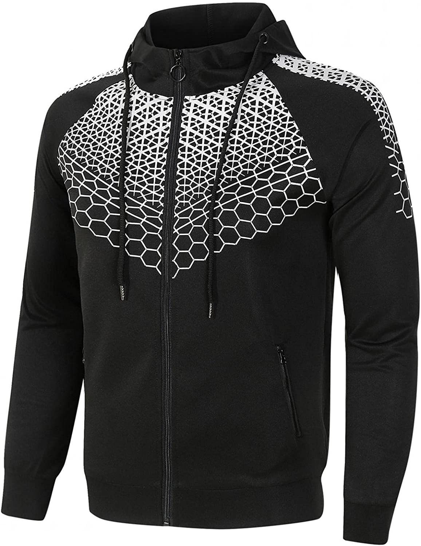 Aayomet Men's Pullover Hoodies Zip up Printed Long Sleeve Crewneck Sweatshirts Casual Workout Sport Tops Sweaters Blouses