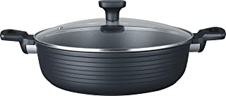 MasterPan MP-135 Designer Series Non-Stick Cast Aluminum Saute Pan with Glass Lid, 11