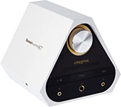 Sound Blaster X7 White 127dB, 24-bit 192kHz High-Res External USB DAC and 100W Audio Amplifier for TV, PC, Mac. Dolby Digital, Bluetooth with aptX Low Latency, AAC, Optical, RCA in/Out