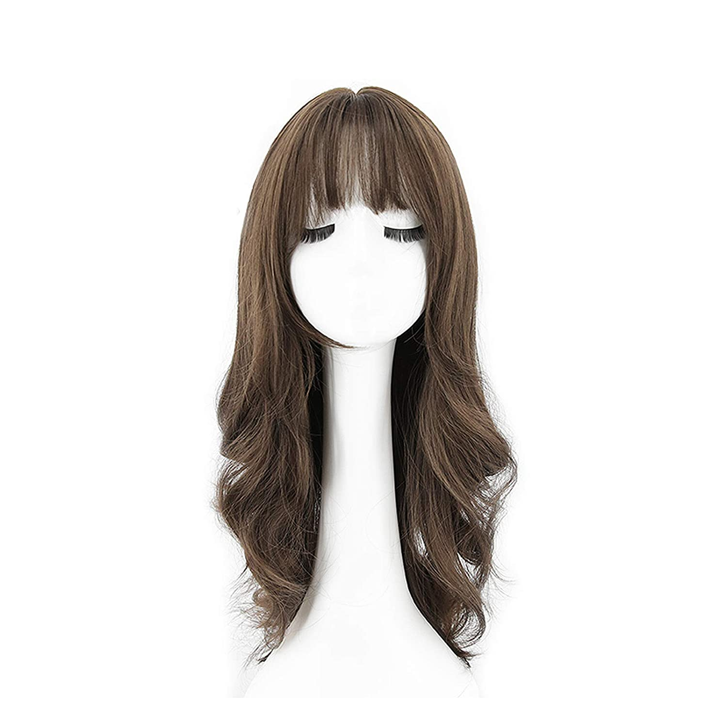 Long Curly Wig Ombre Brown Hair excellence Part Wigs Superior for Middle Women