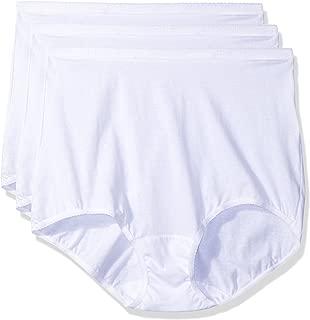 Shadowline Women's Plus Size Panties-Cotton Brief (3 Pack)