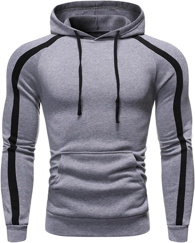 Men's Sweatshirts Fashion Mens Athletic Hoodies Sport Sweatshirt Long Sleeved Drawstring Sports Pullover Tops