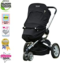 Stroller Cover 6m+ | Sun and UV Sunshade for Baby Strollers & Joggers | Universal Fit for 3 & 4 Wheelers | Blocks 99% of The Sun's Rays | SnoozeShade Plus (Recommended for 6m+)