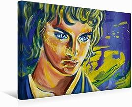 CALVENDO Tela in Tessuto 45 cm x 30 cm Orizzontale, Elijah Wood, Immagine su Telaio, su Vera Tela, Stampa Artistica del Signore degli Anelli