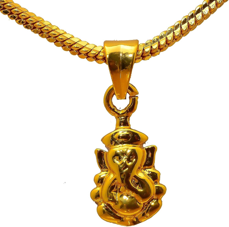 Jewar Pendant Locket Lord Ganesha/Ganesh Ji Handmade Art Gold Plated Jewelry for Men,Women & Girls, Boys 8244