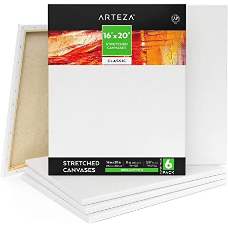 Carton of 5 20 x 20 LOXLEY Gold Chunky Stretched Canvas