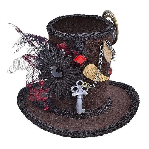 ADULT MINI STEAMPUNK 1920s TALL TOP HAT VICTORIAN FANCY DRESS
