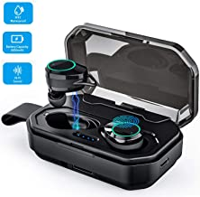 Gamtec Boost Up Bluetooth 5.0 Wireless Earbuds Headphones, iPX7 Waterproof Auto Pairing Earphones Headset Built-in Microphone, 100H Cycle Play Time, 3000mAh Charging Case, Hi-Fi Sound, Touch Operation