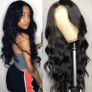 TUNEFUL Human Hair Lace Front Wigs with Baby Hair Remy Hair Wigs Peruvian Body Wave Human Hair Wigs for Black Women 150 Density Pre Plucked Lace Wigs Natural Hairline (24 Inch, Body Wave)