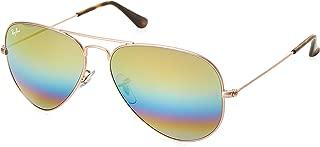 Unisex-Adult Aviator Large Metal Non-Polarized Aviator Sunglasses, Metallic Light Bronze, 58 mm