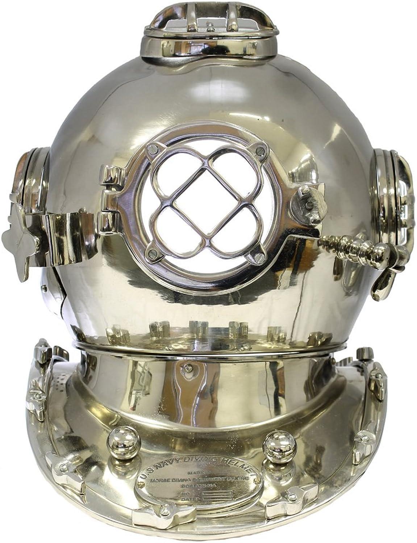 35,6cm US Navy Mark V Diver Helm–Reproduktion–Chrom