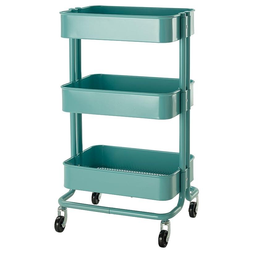 野望こする利用可能IKEA(イケア) R?SKOG 10216537 キッチンワゴン, ターコイズ