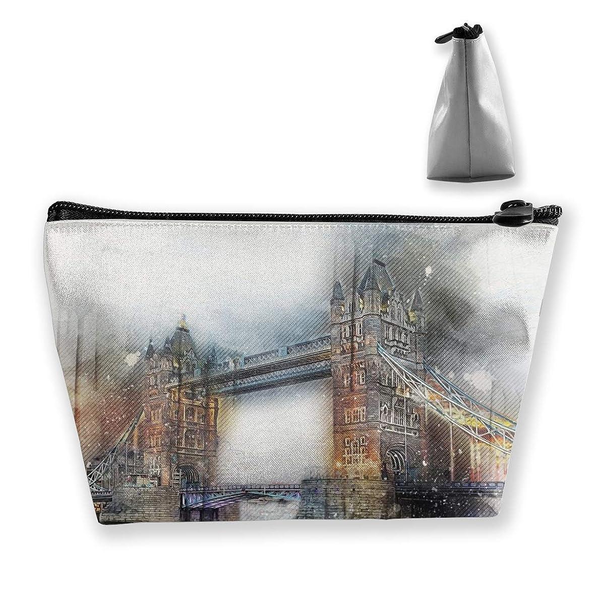 インフレーション大工ウサギSzsgqkj ウェストミンスターブリッジ、ロンドン 化粧品袋の携帯用旅行構造の袋の洗面用品の主催者
