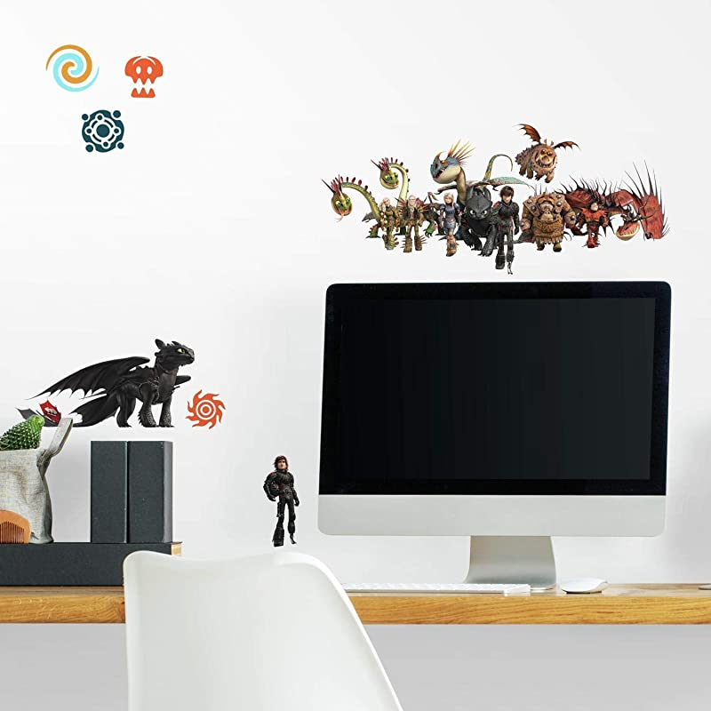 RoomMates How To Train Your Dragon The Hidden World Peel And Stick Wall Decals