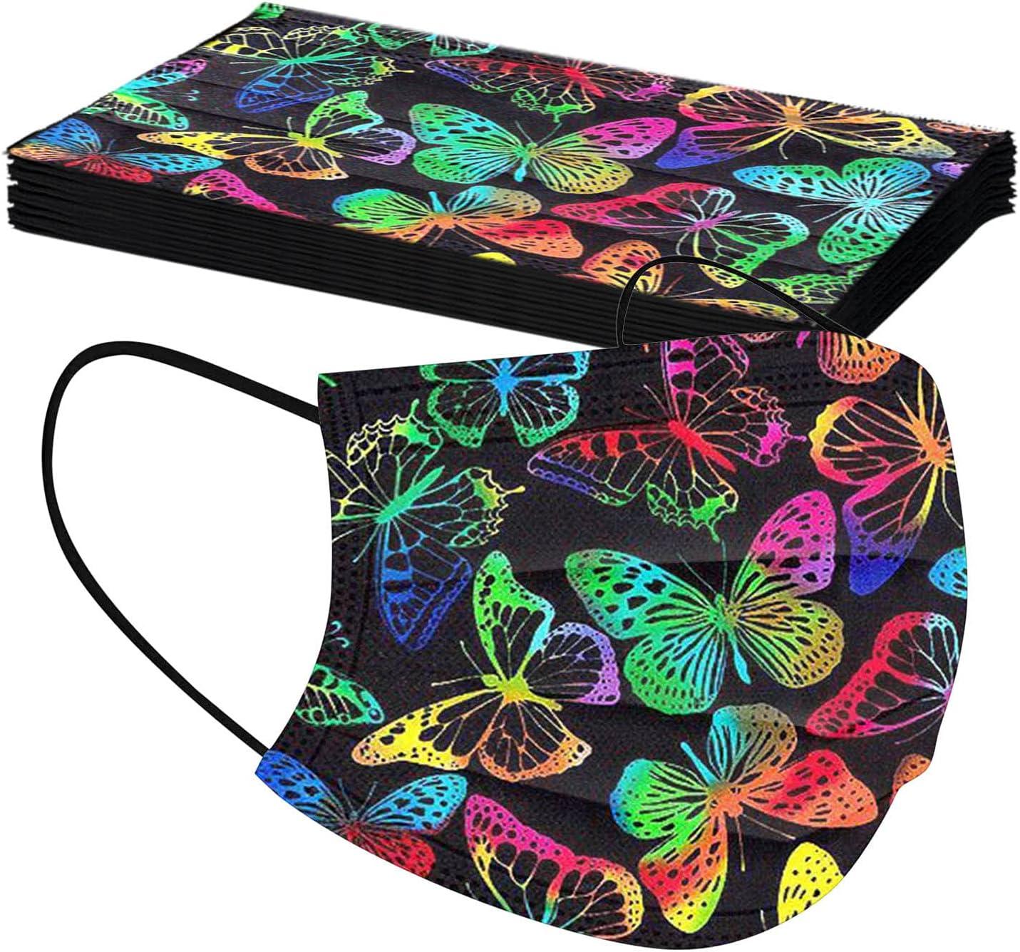 Women's Black Face Bandanas Brand Cheap Sale Max 75% OFF Venue Colorful Fashi Print Butterfly