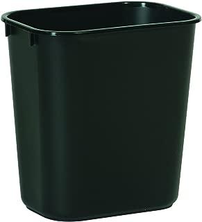 Rubbermaid Commercial Products FG295500BLA Plastic Resin Deskside Wastebasket, 3.5 Gallon/13 Quart, Black (Pack of 12)
