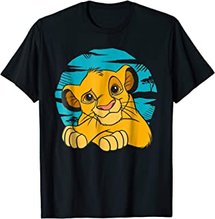 The Lion King Young Simba Resting Blue 90s T-shirt