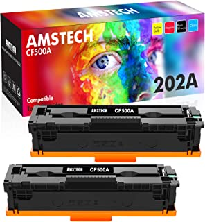 Amstech Compatible Toner Cartridge Replacement for HP 202A CF500A 202X CF500X for HP Laserjet Pro MFP M281cdw M254dw M281f...