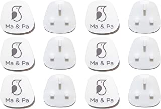 Ma & Pa® 12 Pieces Baby Safety Covers, Baby Proofing Outlet Covers, Electric Socket Cover, Child Proofing Plug Covers Prot...