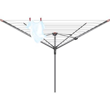 Vileda 158781 Séchoir Rotatif à 4 Bras Argenté 45 m