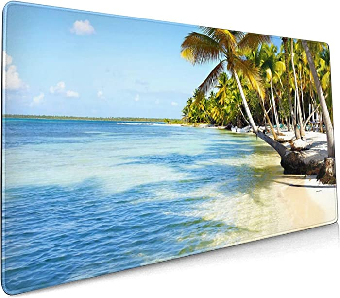 Hawaii Mouse Pad Large Gaming XXL Beach for Computer Laptop Long Mousepad Desk Mat Keyboard Pad for Office Work Game
