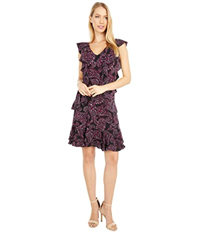 MICHAEL Michael Kors Floral Pop Cascade Dress (Azalea) Women