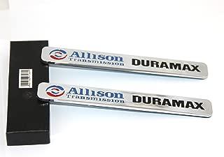 Yoaoo 2x Autotuning OEM Allison Transmission Duramax Emblem 2500Hd for Gm Silverado Gmc