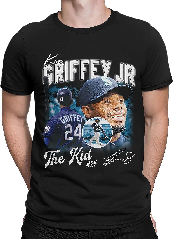 Vintage Ken Griffey Jr Classic Black T-Shirt Unisex Men Women Clothing
