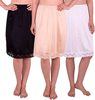 27 XL UM52030 Pack of 3 Under Moments Long Skirt Nude